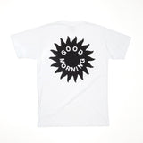 Good Morning Tapes Sun Logo SS Tee White