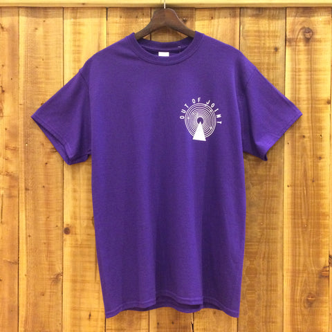 Out Of Joint Stock T-Shirt Purple - Out Of Joint Records