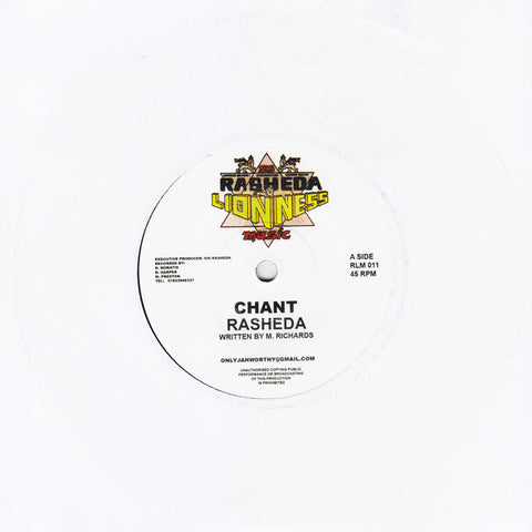 Sister Rasheda - Chant / Counter Action Warrior - Dub Chant - Out Of Joint Records