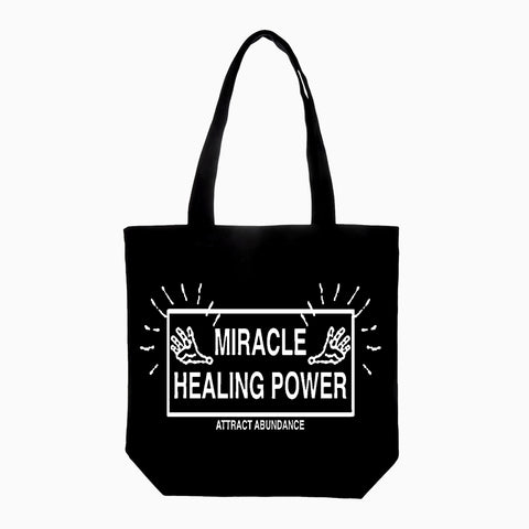 Good Morning Tapes Miracle Healing Power Canvas Totebag Black