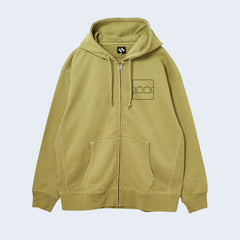 The Trilogy Tapes Block Hooded Top Green