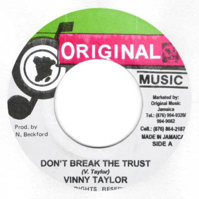 Vinny Taylor ‎- Don't Break The Trust