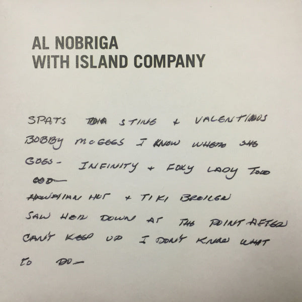 Al Nobriga With Island Company - My Last Disco Song - Out Of Joint Records