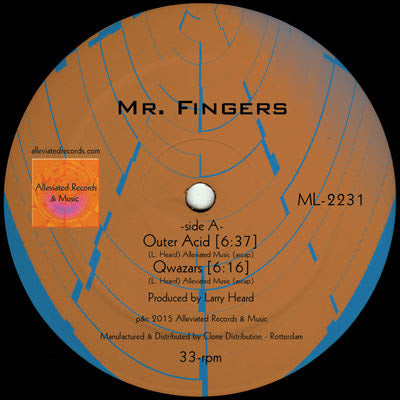 Mr. Fingers - Mr. Fingers 2016 (Repress) (Pre-order) - Out Of Joint Records