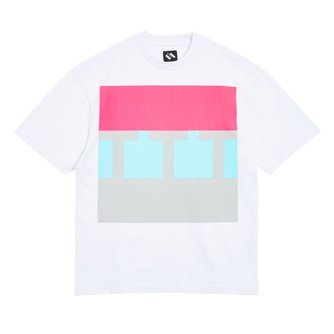 The Trilogy Tapes Block T-Shirt White