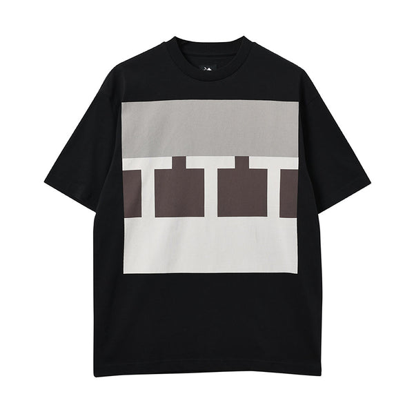 The Trilogy Tapes Block T-shirt Black - Out Of Joint Records