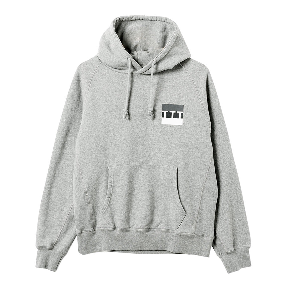 The Trilogy Tapes TTT Zipless Hood Grey Marl