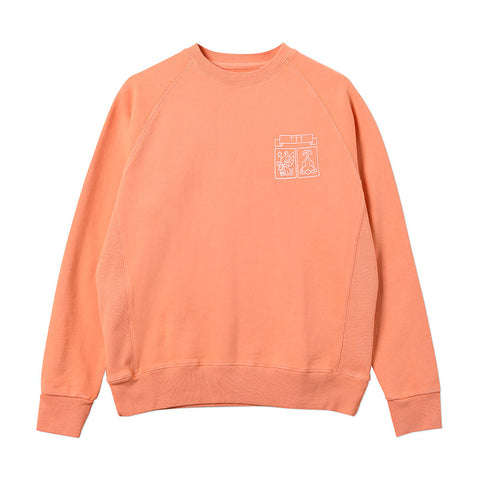 The Trilogy Tapes TTT Shield Peach Crew Sweatshirt - Out Of Joint Records