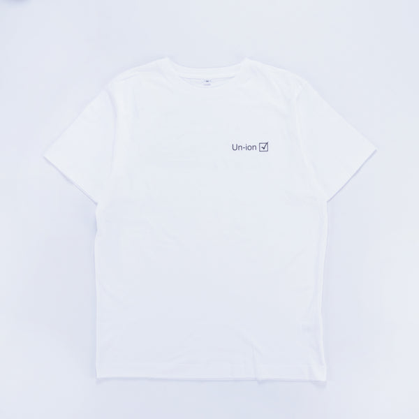 Union Li-cobalt T-Shirt White - Out Of Joint Records