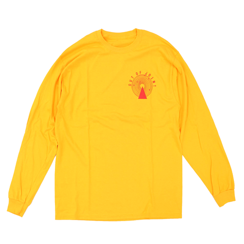 Out Of Joint Stock Long Sleeve T-Shirt Yellow - Out Of Joint Records