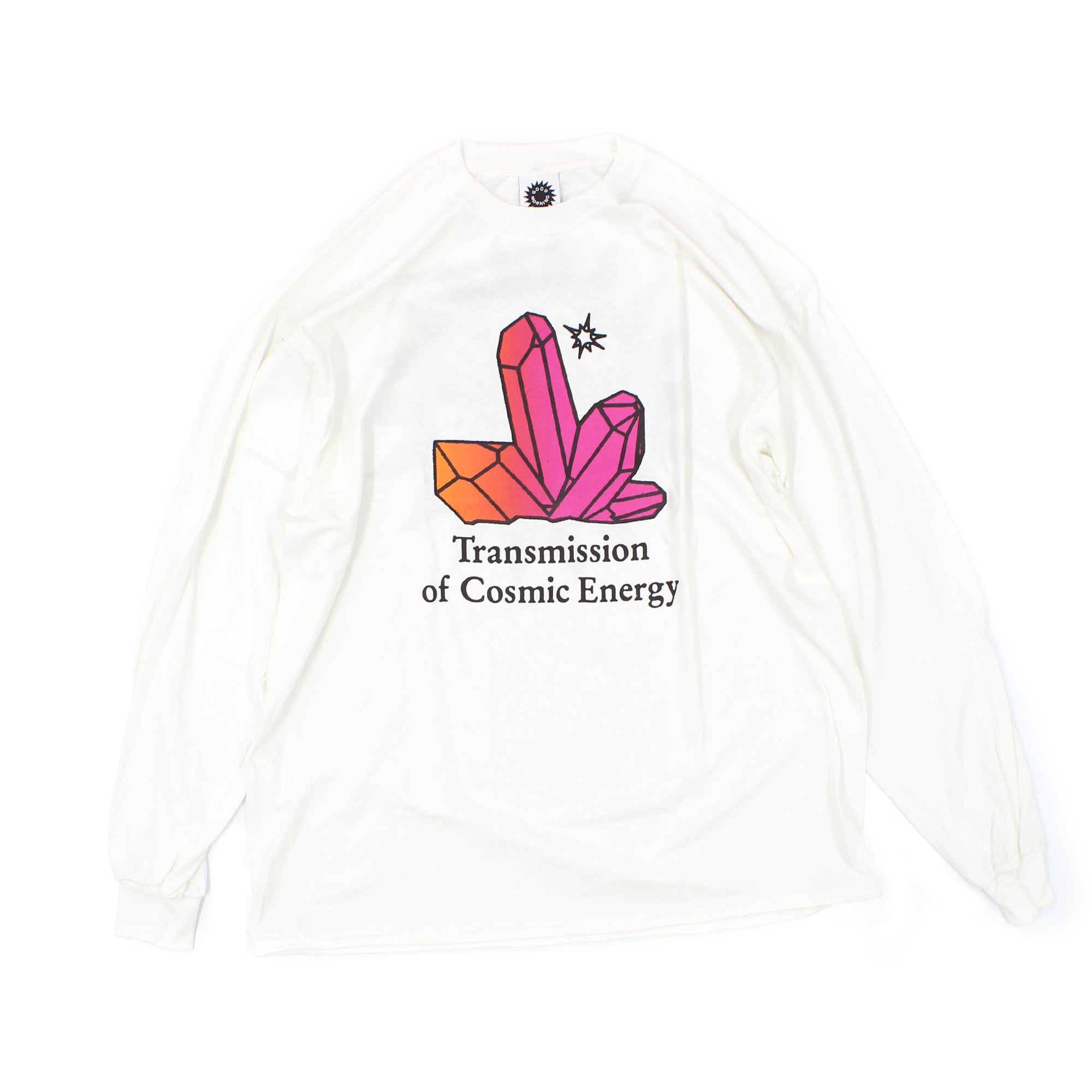 Good Morning Tapes Transmission Long Sleeve T-Shirt White