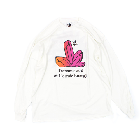 Good Morning Tapes Transmission Long Sleeve T-Shirt White - Out Of Joint Records