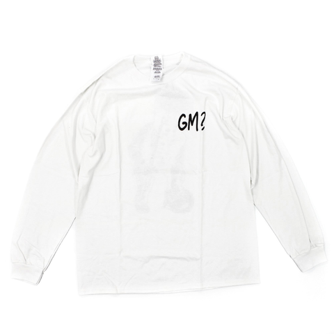Get Me Long Sleeve T-Shirt White - Out Of Joint Records