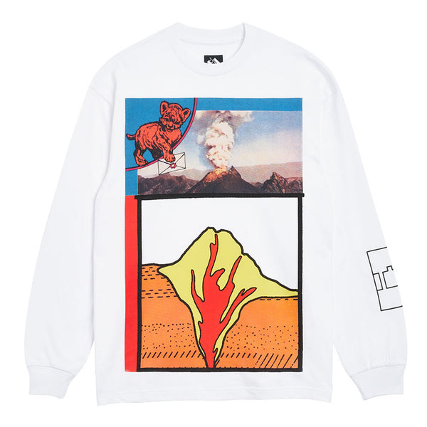 The Trilogy Tapes Volcano Longsleeve White