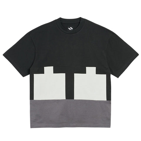 The Trilogy Tapes Cut & Sew T-Shirt Black / Grey