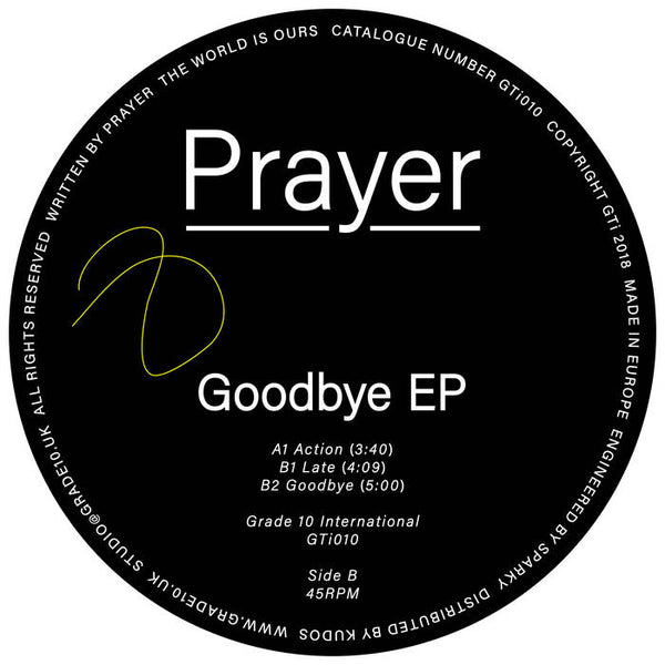 Prayer - Goodbye EP - Out Of Joint Records