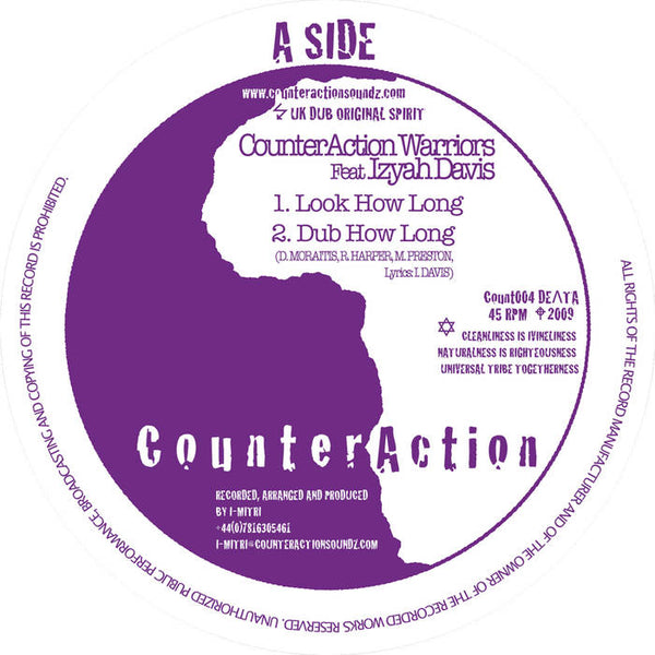CounterAction Warriors Feat Izyah Davis / Jah Mystic – Look How Long / Stand Up And Praise H.I.M. - Out Of Joint Records