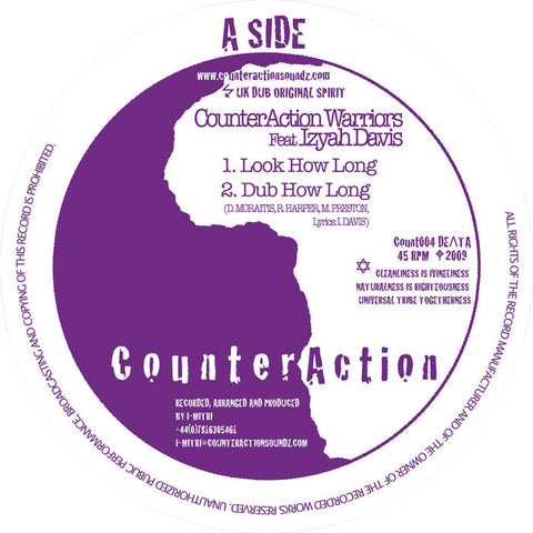 CounterAction Warriors Feat Izyah Davis / Jah Mystic ‎– Look How Long / Stand Up And Praise H.I.M.