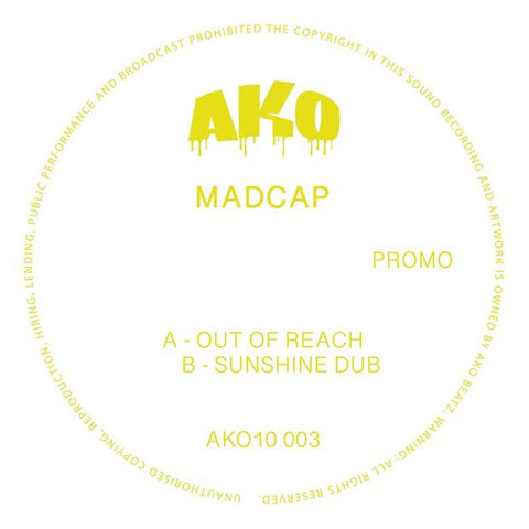 "Madcap - Out of Reach // Sunshine Dub (Yellow 10"" Vinyl) - Out Of Joint Records"