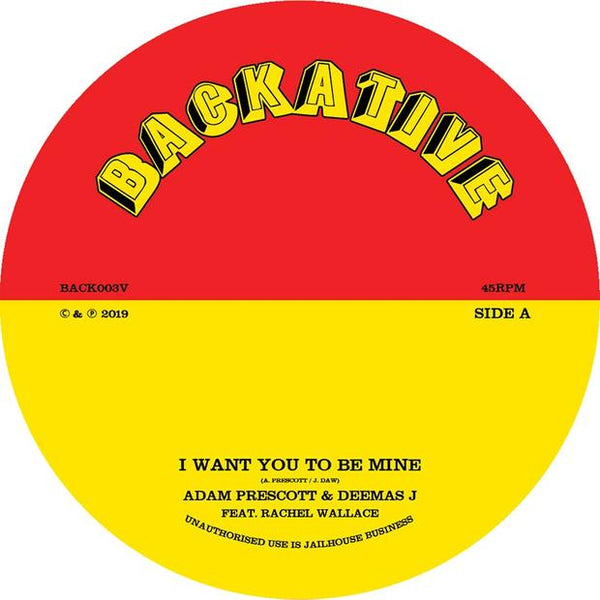 Adam Prescott & Deemus J - I Want You To Be Mine / Questions (7'' Vinyl) - Out Of Joint Records