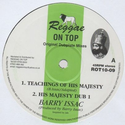 Barry Issac - Teachings Of His Majesty - Out Of Joint Records