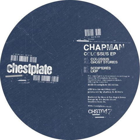 Chapman - Colossus EP - Out Of Joint Records