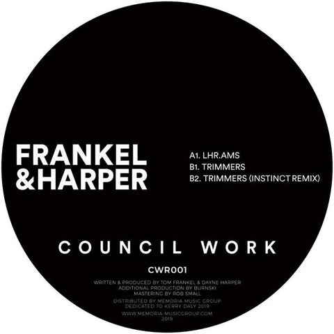 Frankel & Harper - Trimmers EP - Out Of Joint Records