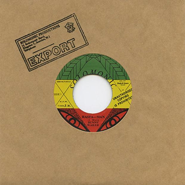 Bunny Wailer - Rasta Man - Out Of Joint Records