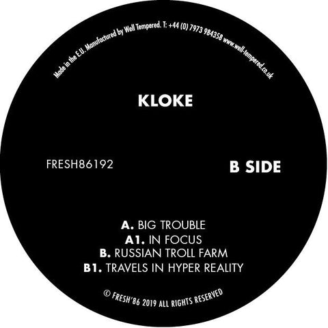 Kloke - Big Trouble - Out Of Joint Records