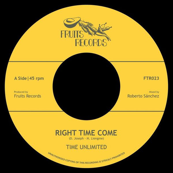 "Time Unlimited - Right Time Come (7""  Vinyl) - Out Of Joint Records"