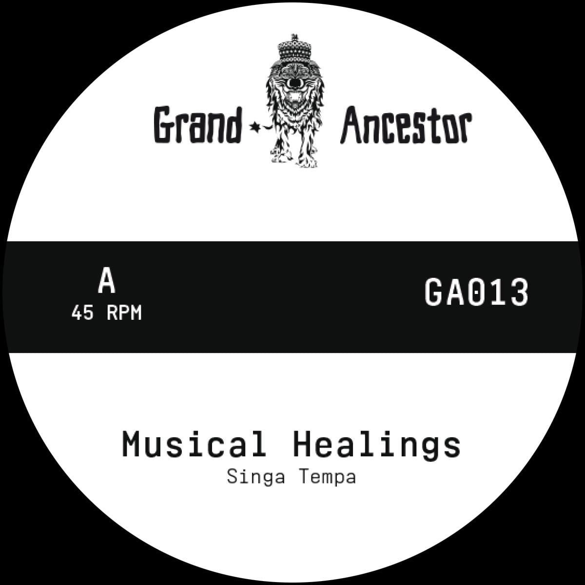 "Singa Tempa / Douglas Wardrop - Musical Healings (Hand-numbered 7"")"