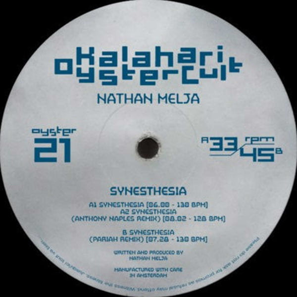 Nathan Melja - Synesthesia - Out Of Joint Records