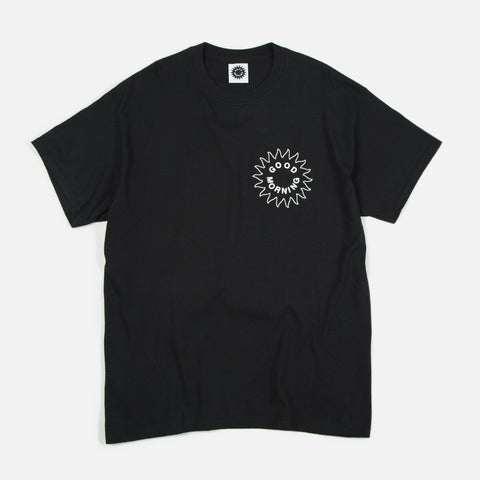 Good Morning Tapes Sun Logo SS Tee Black
