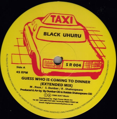 Black Uhuru - Guess Who Is Coming To Dinner (Extended Mix)