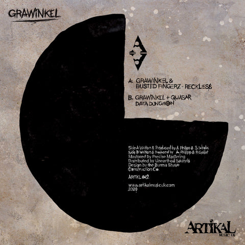 Grawinkel, Busted Fingerz & Quasar - Reckless / Data Dungeon - Out Of Joint Records