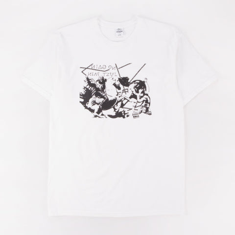 L.I.E.S. ALL PAIN TEE WHITE - Out Of Joint Records