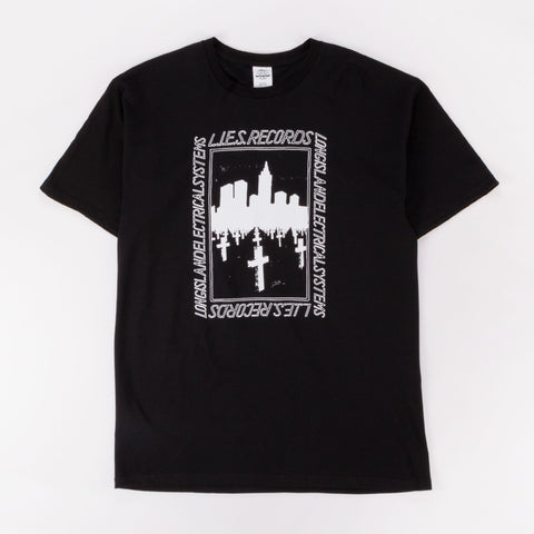 L.I.E.S. BQE GRAVE TEE BLACK - Out Of Joint Records