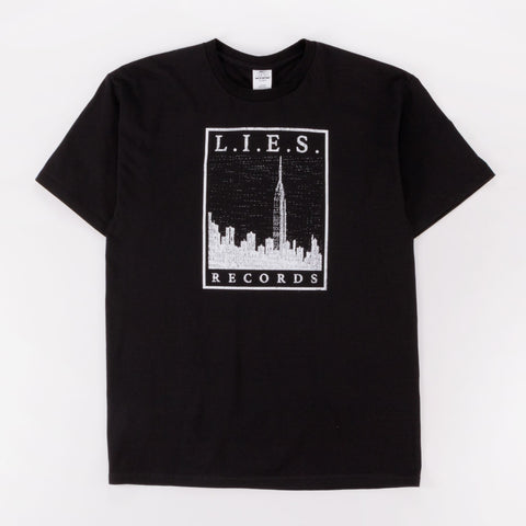 L.I.E.S. CITY SCAPES TEE BLACK - Out Of Joint Records