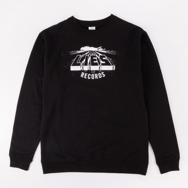 L.I.E.S. CLASSIC LOGO CREWNECK SWEATSHIRT BLACK - Out Of Joint Records