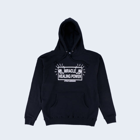 Good Morning Tapes Attract Abundance Pullover Hooded Top Black - Out Of Joint Records