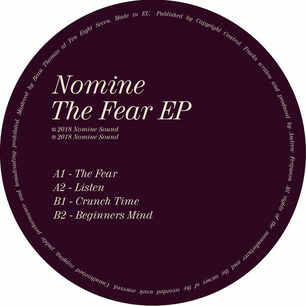 Nomine - The Fear EP - Out Of Joint Records
