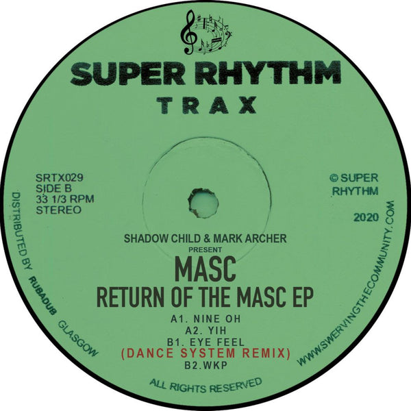 Shadow Child & Mark Archer present MASC - Return Of The MASC - Out Of Joint Records