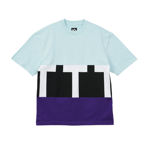 The Trilogy Tapes Cut & Sew T-Shirt Blue / Black / Purple