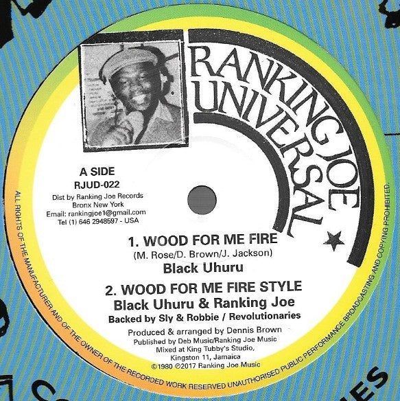 Black Uhuru feat. Ranking Joe - Wood For Me Fire