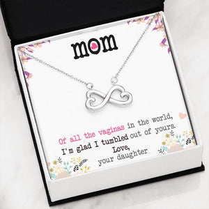 Infinity Heart Necklace: Best Gift for Mom