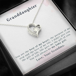 Granddaughter - You are the Beat of My Heart - Necklace