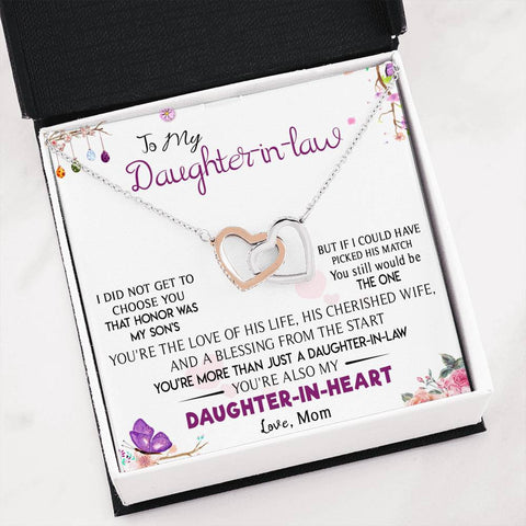 Interlocking Heart Necklace: Best Gift for Daughter-in-law