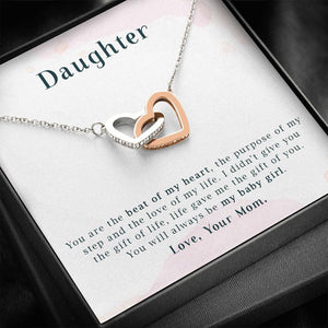 To My Daughter - You are the Beat of My Heart - Necklace