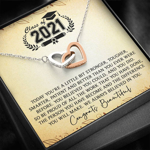 Class Of 2021 Necklace Graduation Gifts for Her, College Graduation Gifts for Daughter