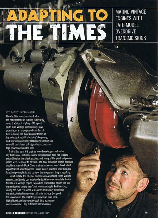 Adapting to the Times: Mating Vintage Engines with Late-Model Overdrive Transmissions